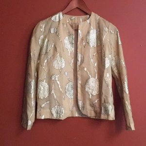 Stunning 60's brocade style gold shimmer jacket